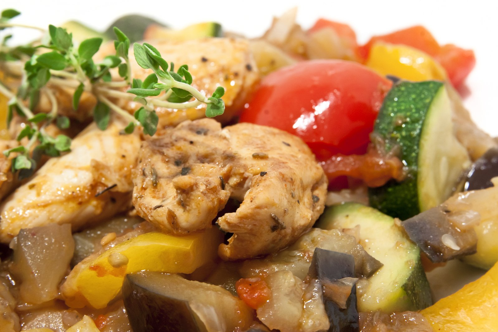Pan-fried vegetables with Chicken series