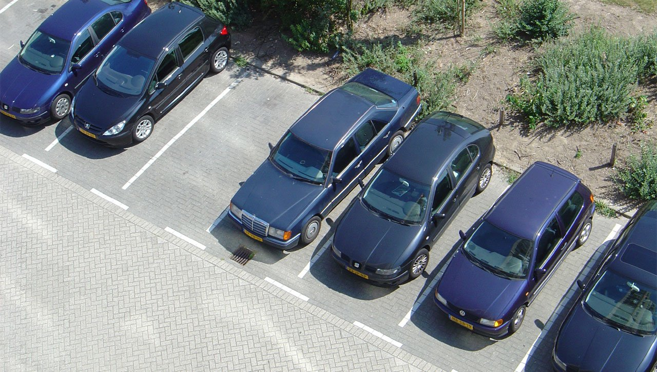 Cars at the parking place