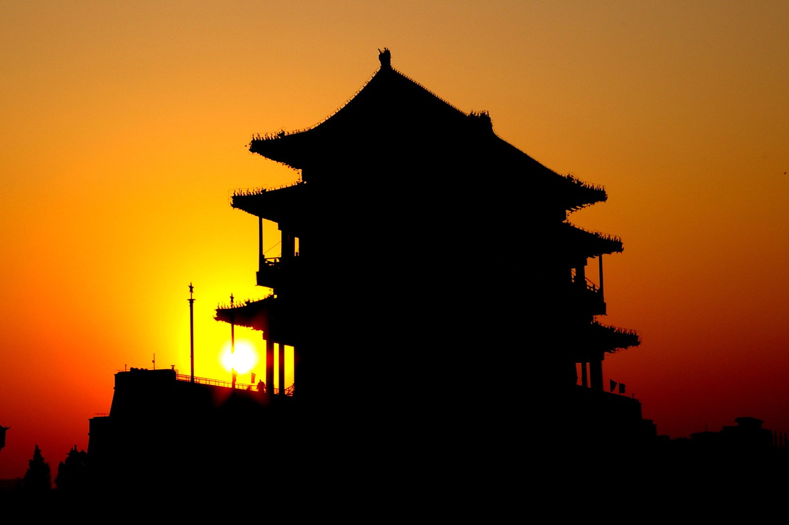 Atardecer de Tiananmen