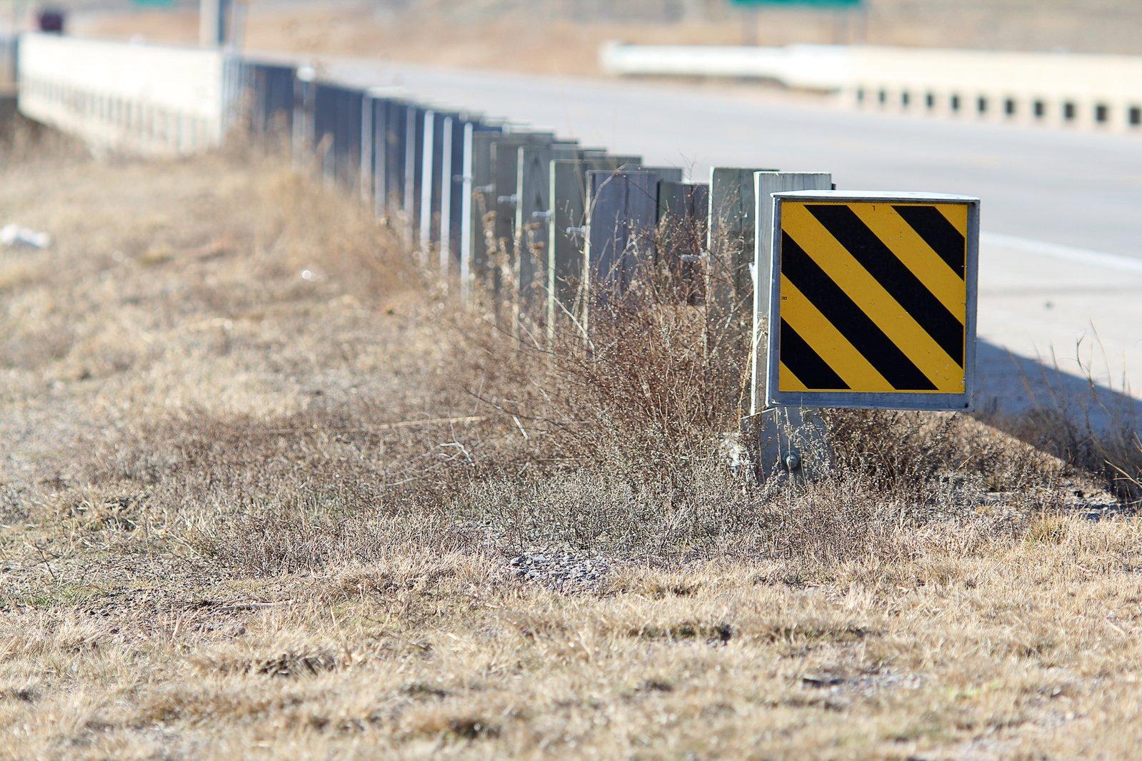 Roadside Barrier Warning Sign