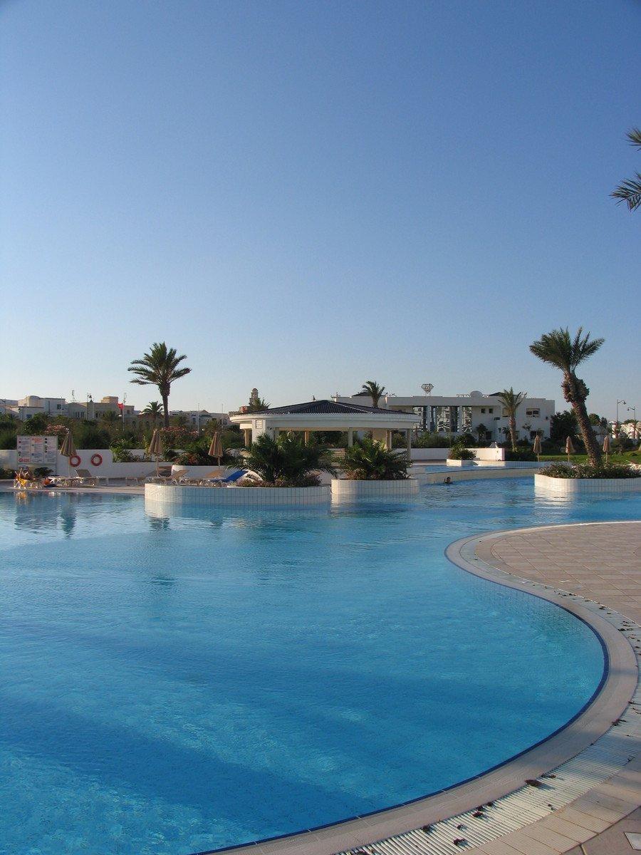 Free Swimming Pool: Free Swimming Pool In Sofitel In Hammamet, Tunisia Stock