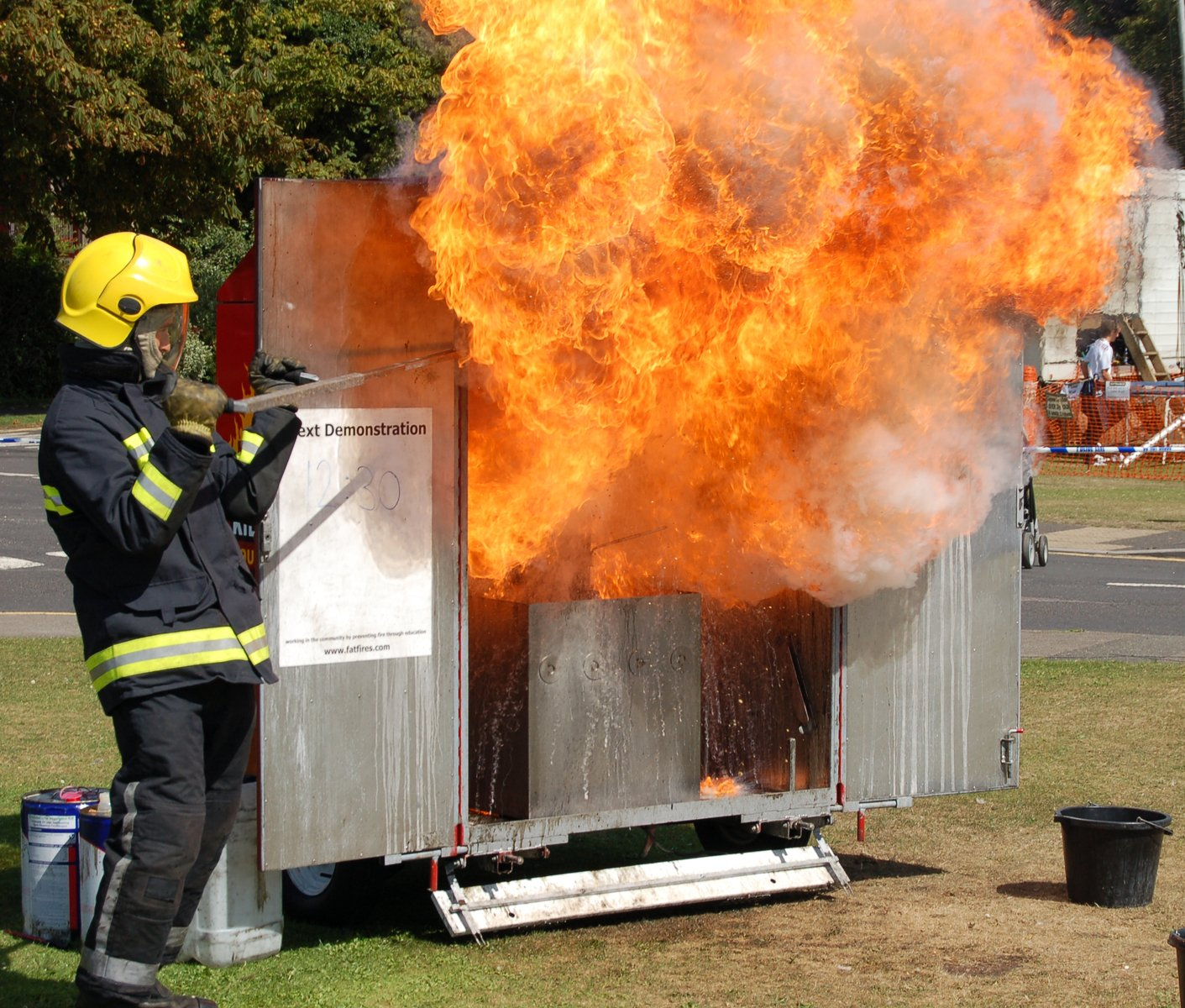 Firefighter Propane Safety Training and Demonstration ...  |Fire Figher Demonstration