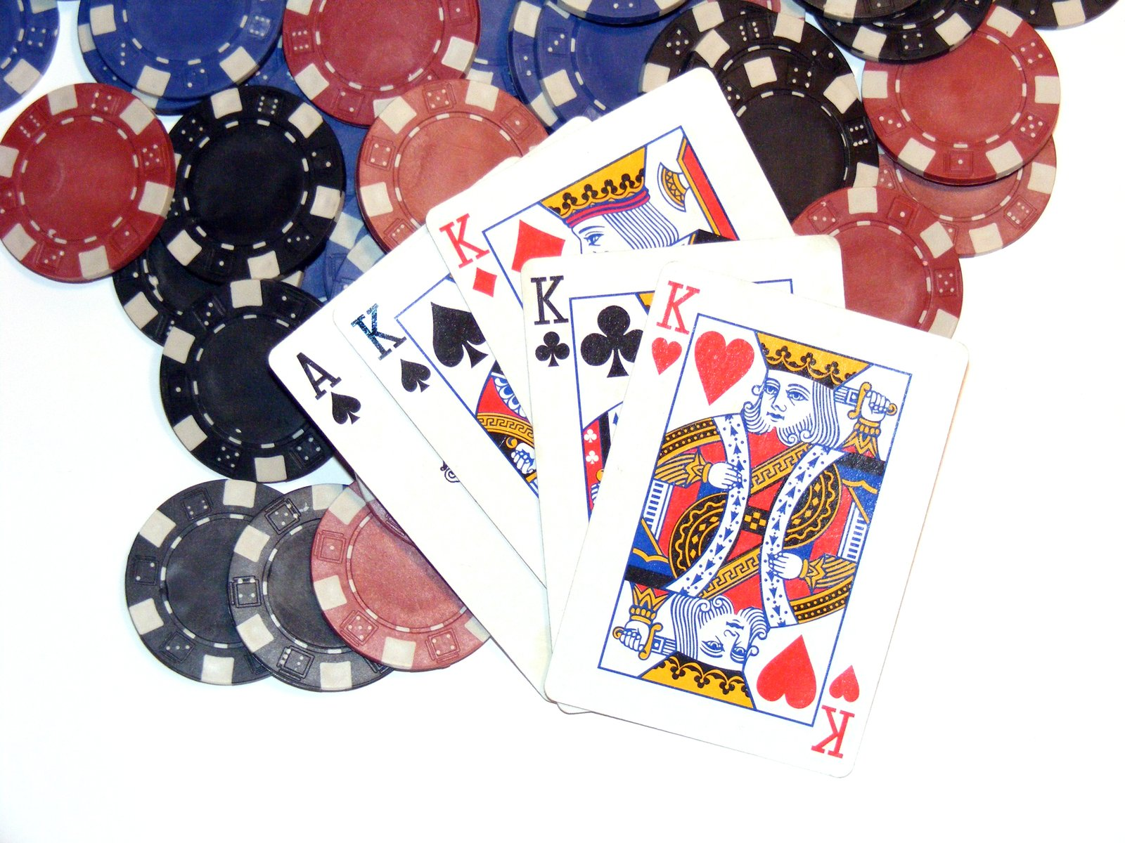 Poker chips and Cards