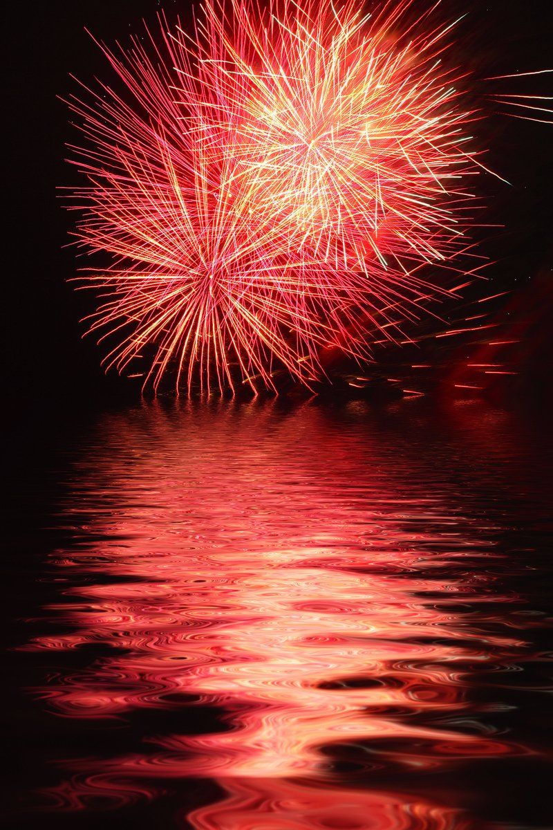 Free Fireworks Over Water Stock Photo Freeimages Com