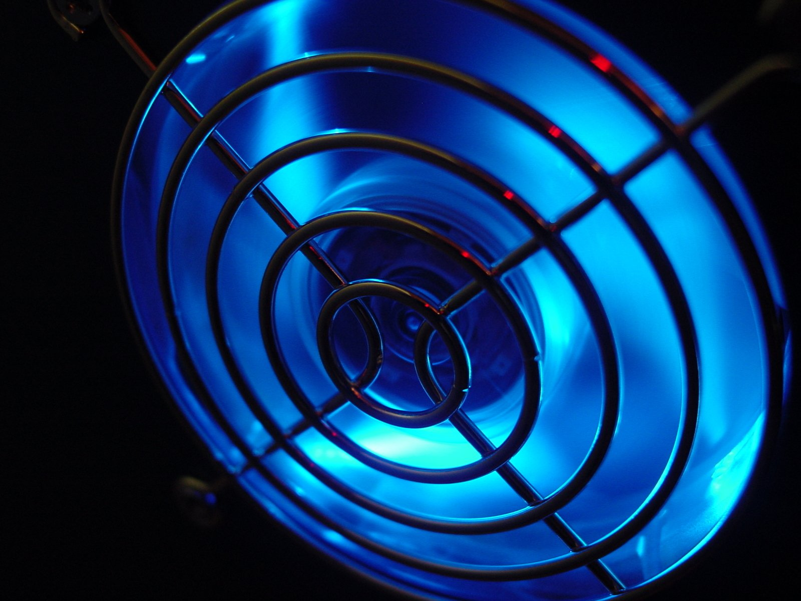 Blue fan glow in dark