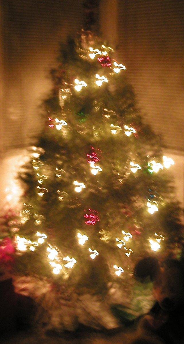 free kerstboom verlichting effect stock photo