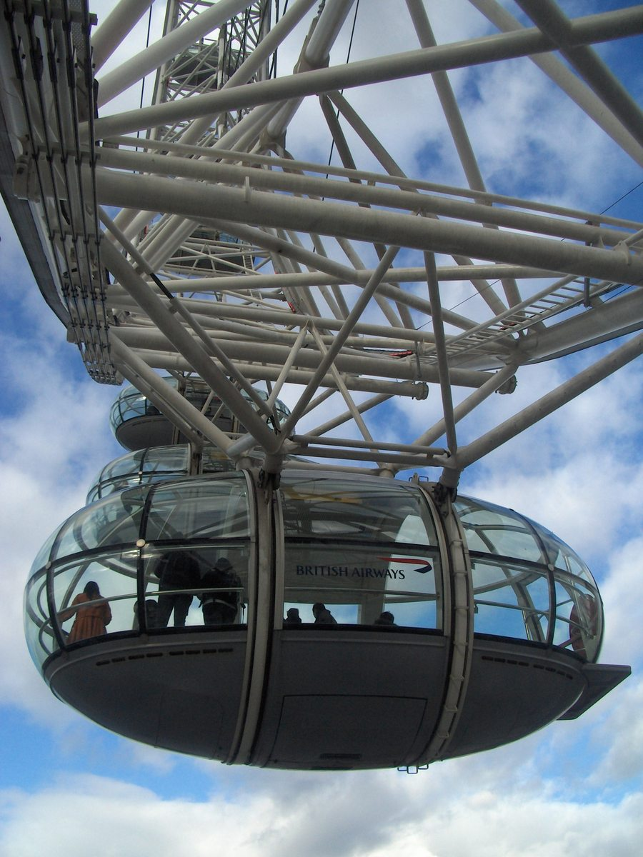Free London Eye Capsule Stock Photo