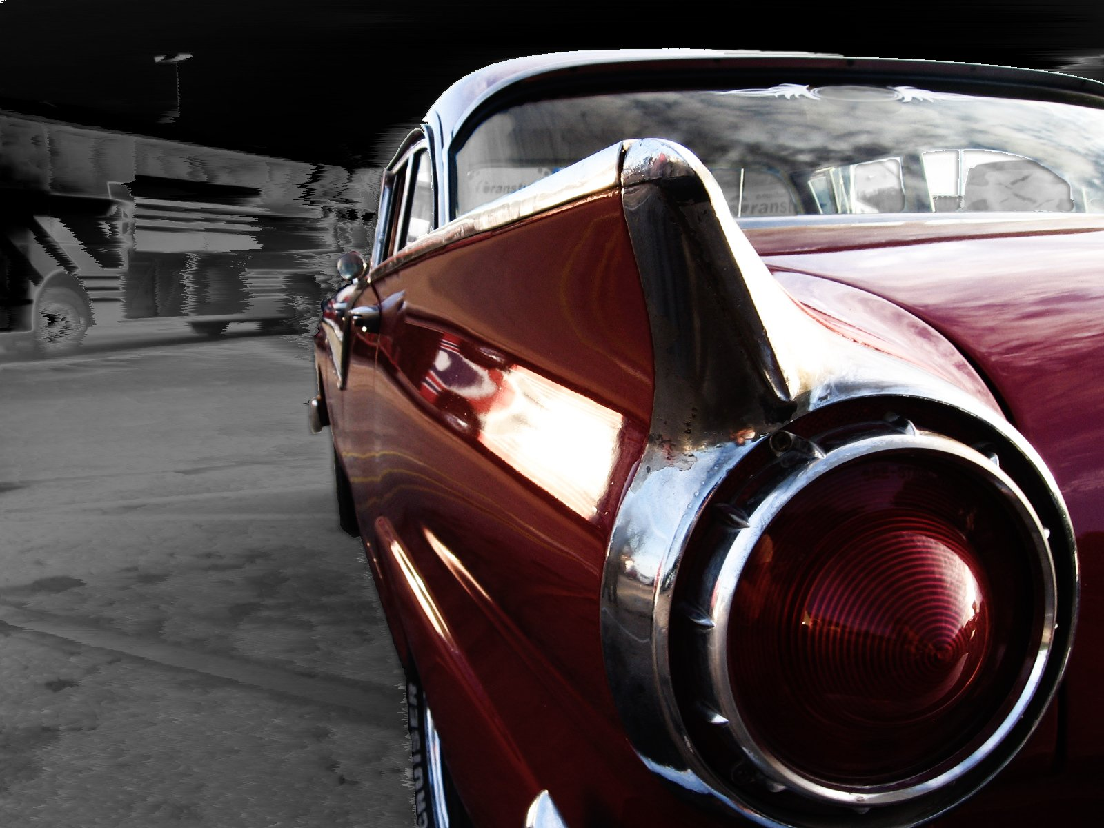 Back Tail Ligth of Classic Car