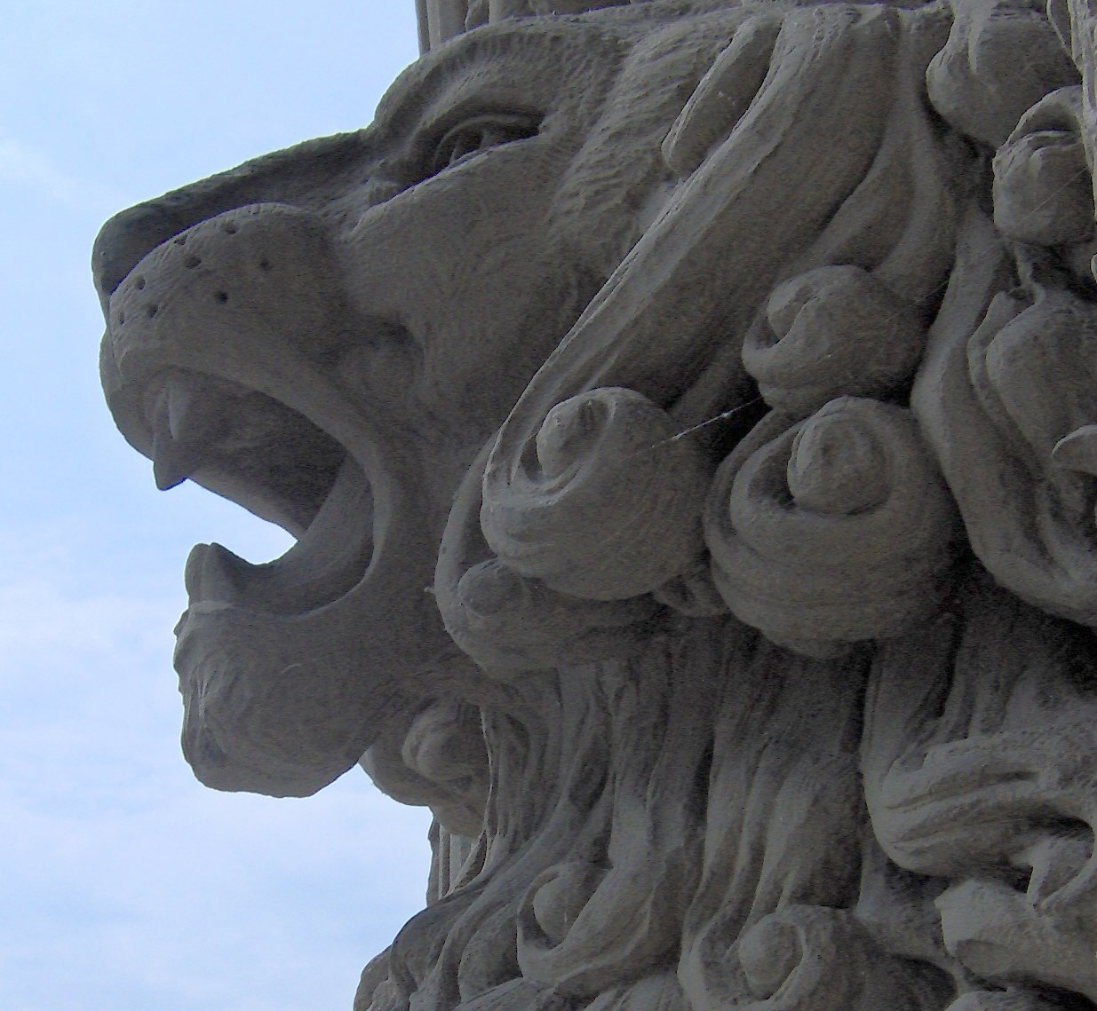Free detail of lion carving on parliament hill ottawa