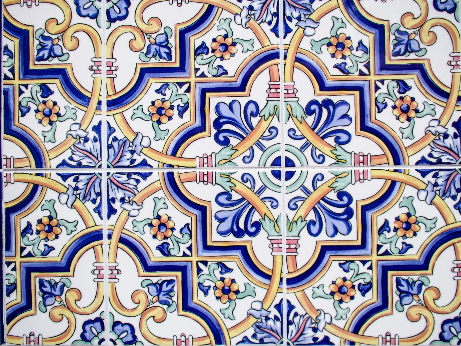 Free Classic Floral Tile Texture Stock Photo Freeimages Com