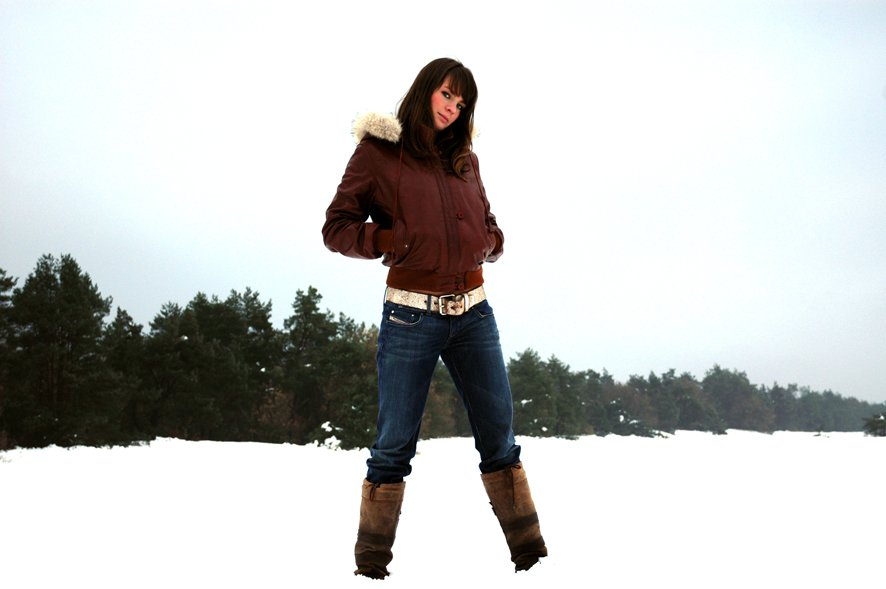 Woman and Snow 4