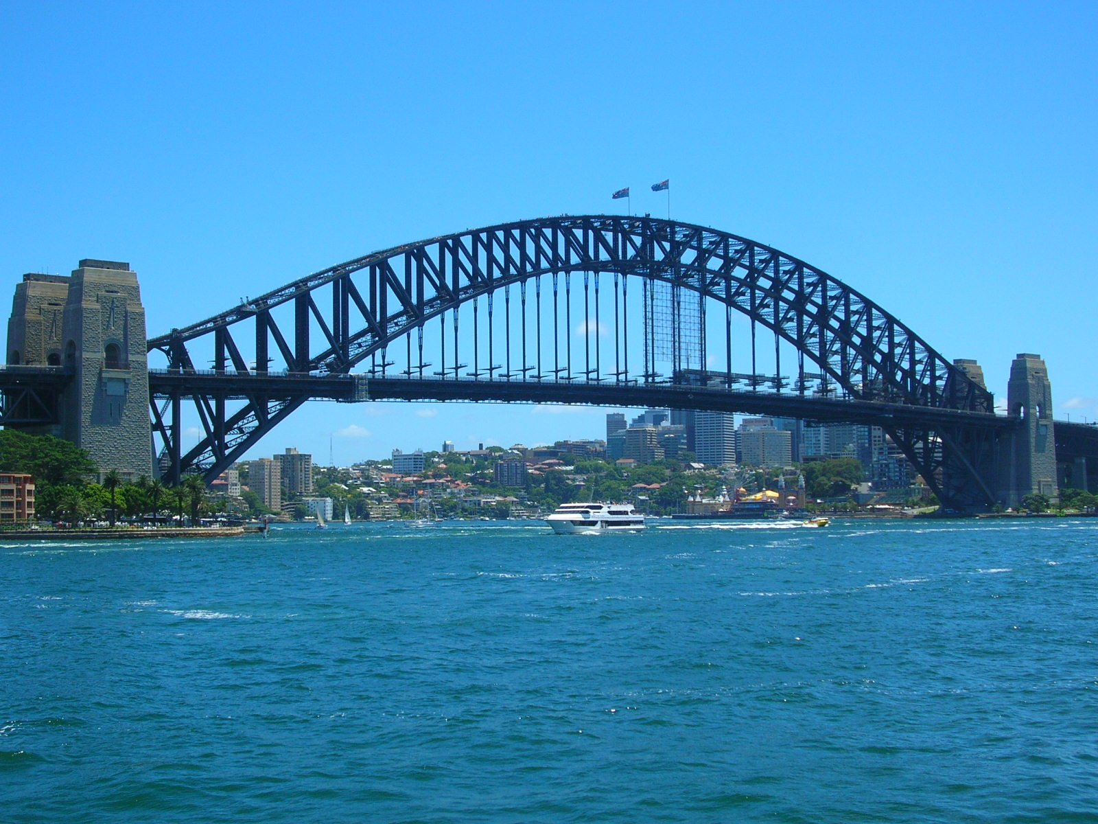 how to draw the harbour bridge