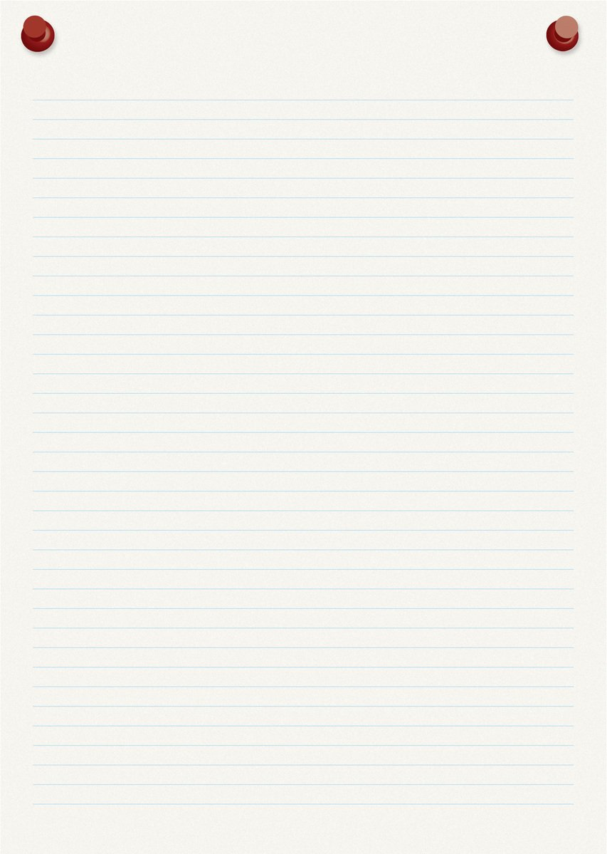 Free Lined paper with pins 3D Stock Photo - FreeImages.com