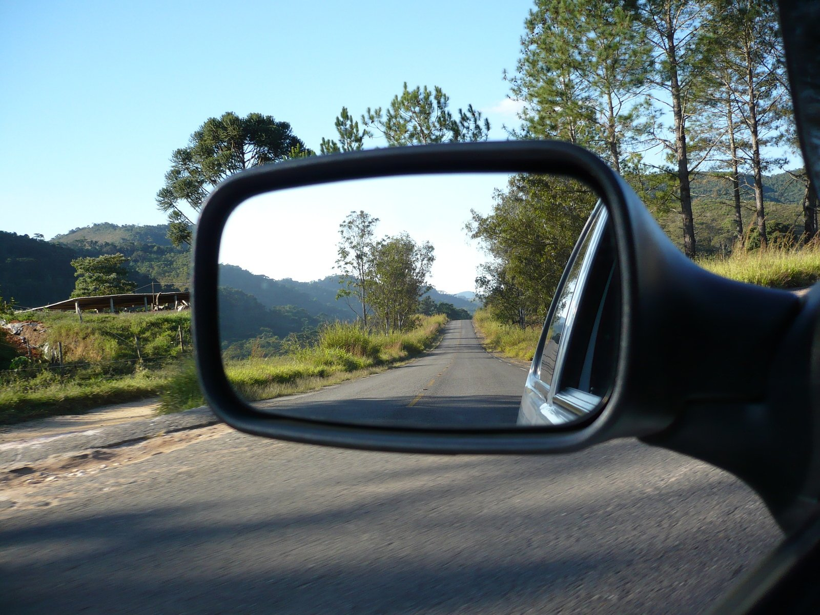Free Road on Rear view mirror Stock Photo - FreeImages.com