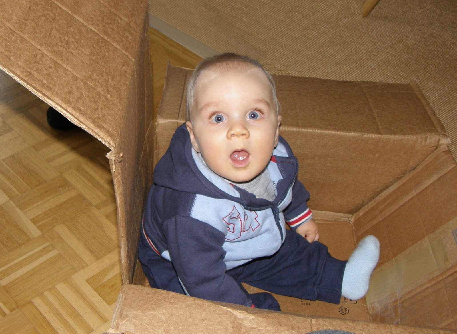 Free Child In A Box Stock Photo Freeimages Com