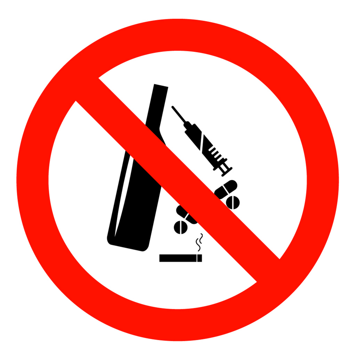 Free Anti Alcohol And Drugs Stock Photo