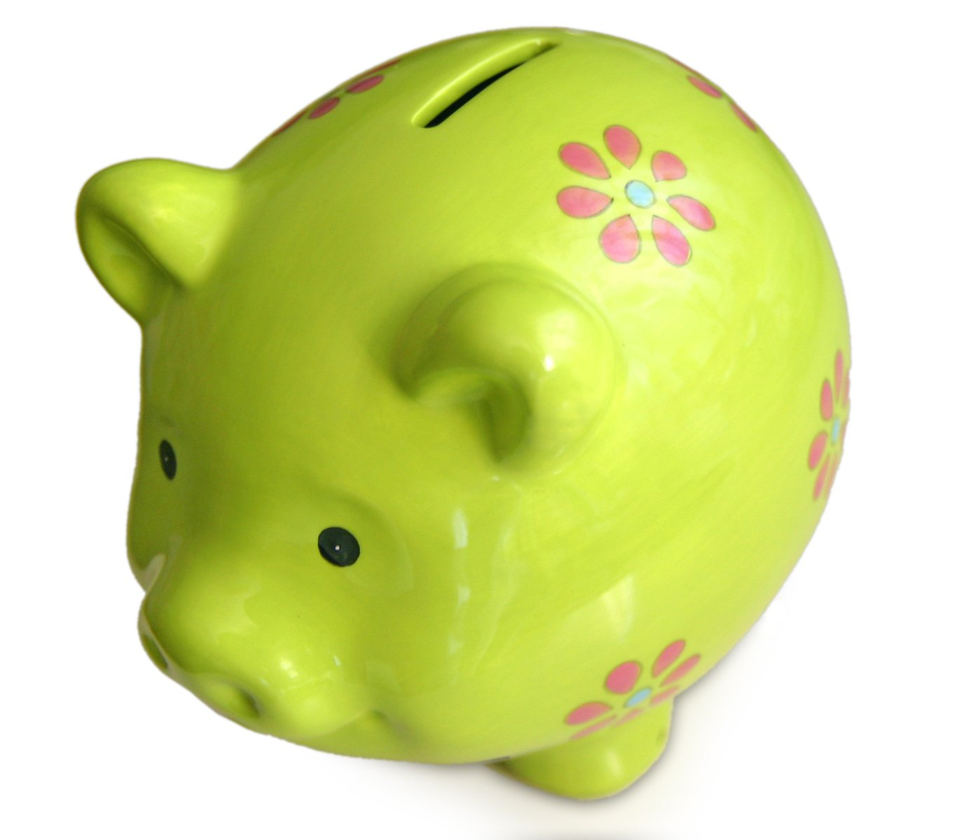 Free Green Piggy Bank Isolated Stock Photo