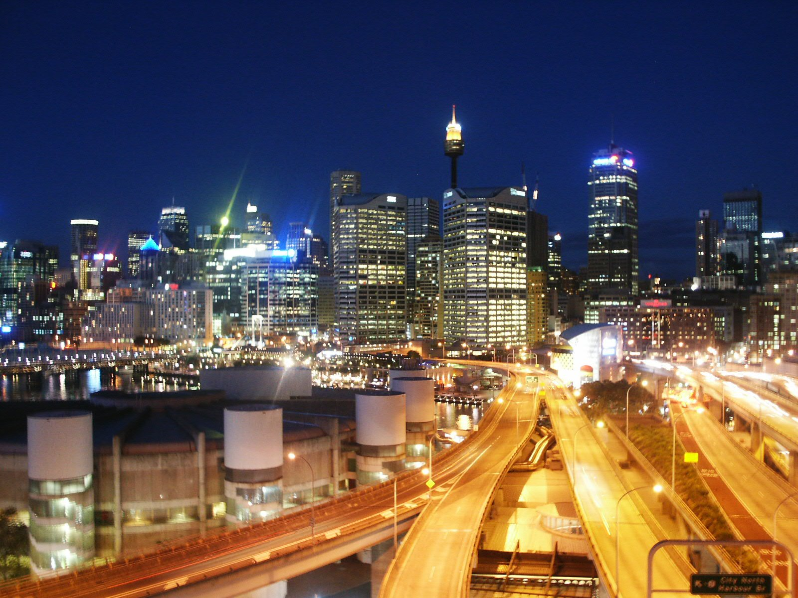 Nighttime Sydney Harbour