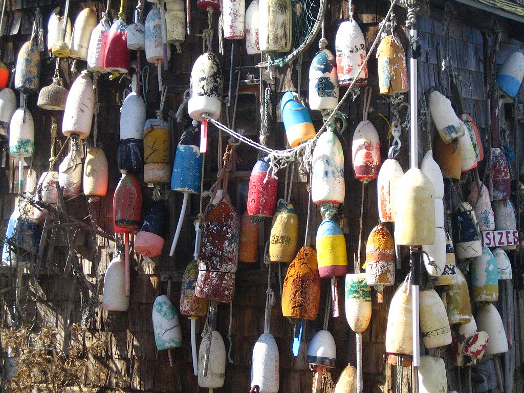 Free Lobster buoys, Maine Stock Photo - FreeImages.com
