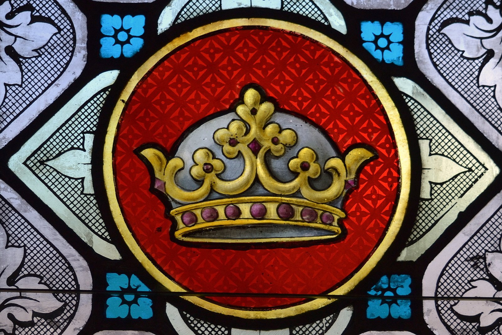 Free Stained Glass Crown Stock Photo