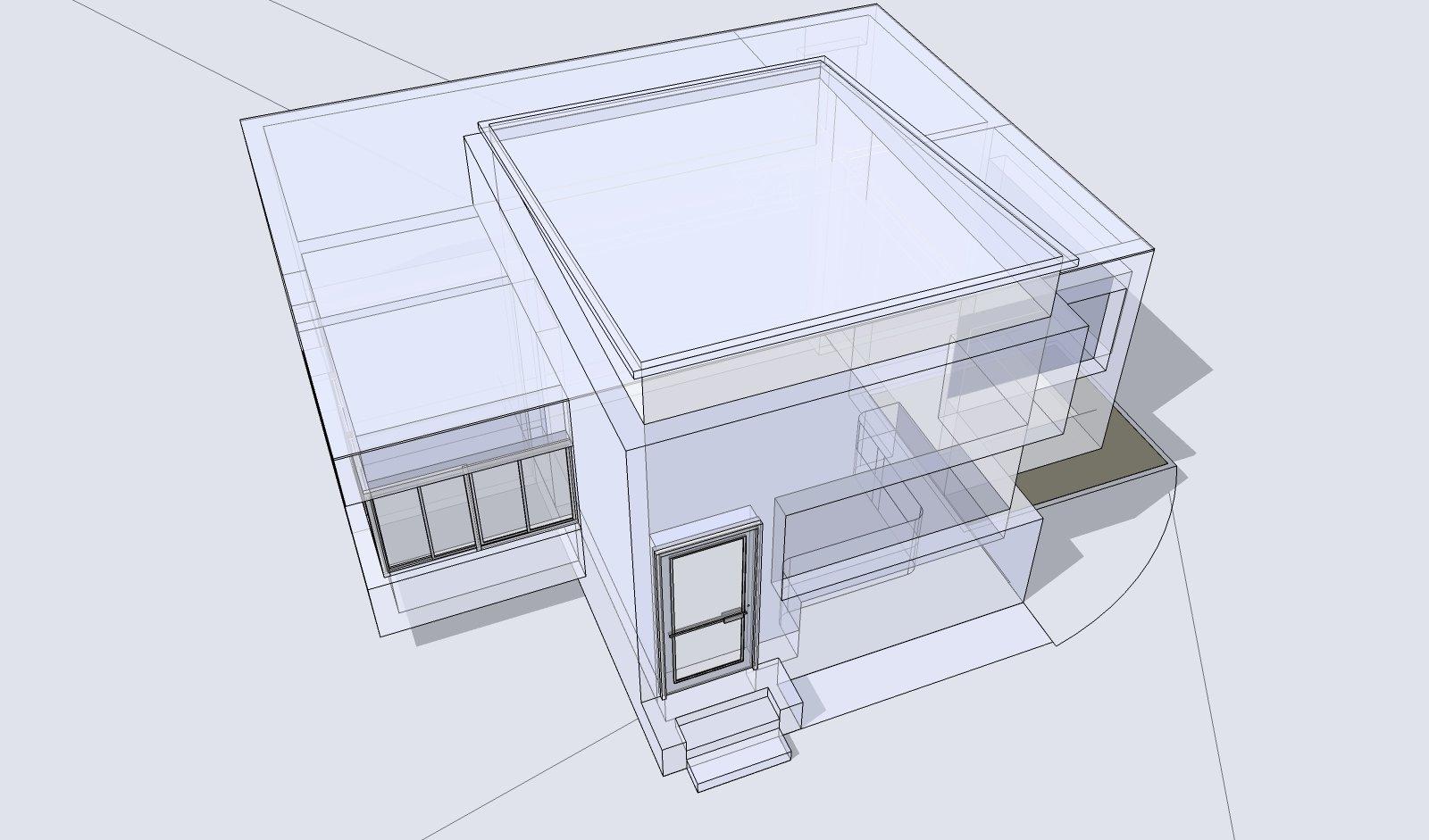Free Gebäude 3D Und Drahtmodell 1 Stock Photo