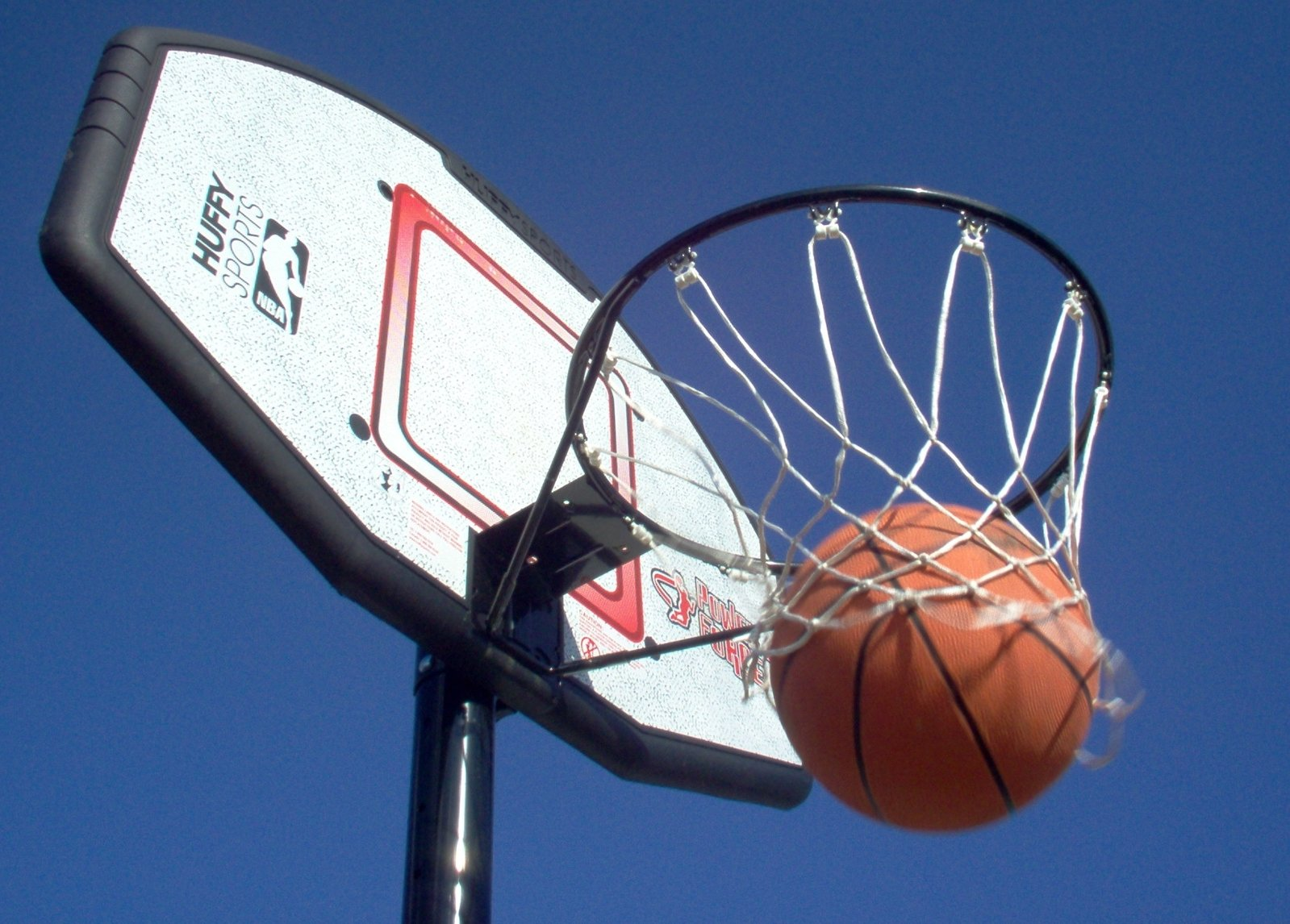 free basketball in net stock photo freeimages com