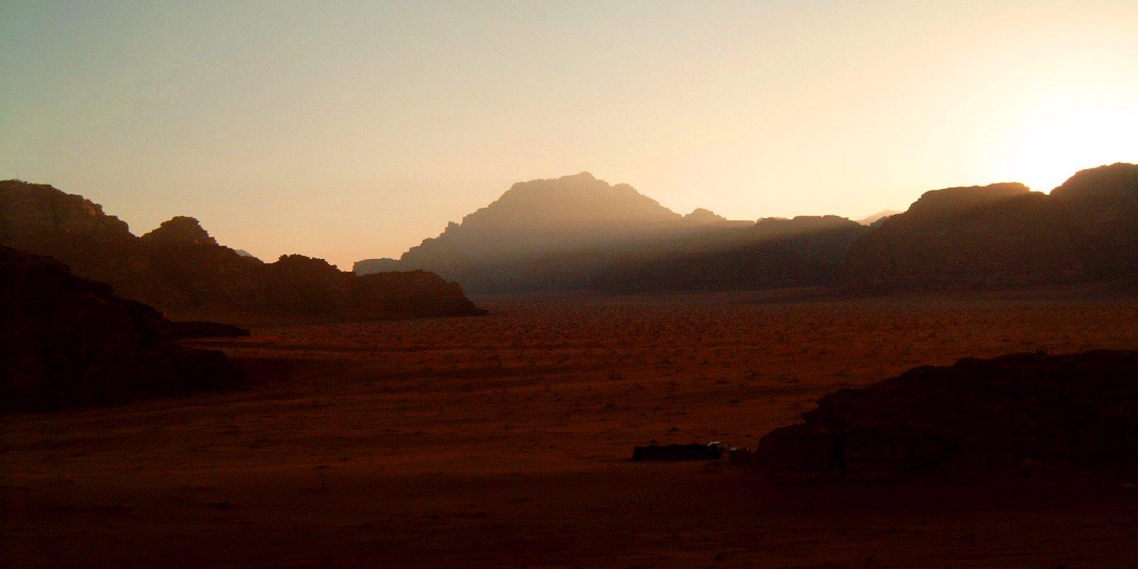 Atardecer en el desierto de Jordania 2