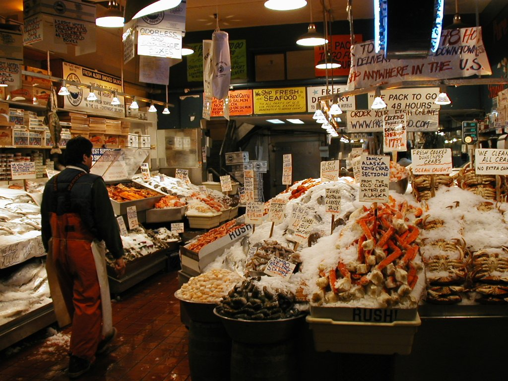 Free seattle fish market stock photo for Fish market seattle