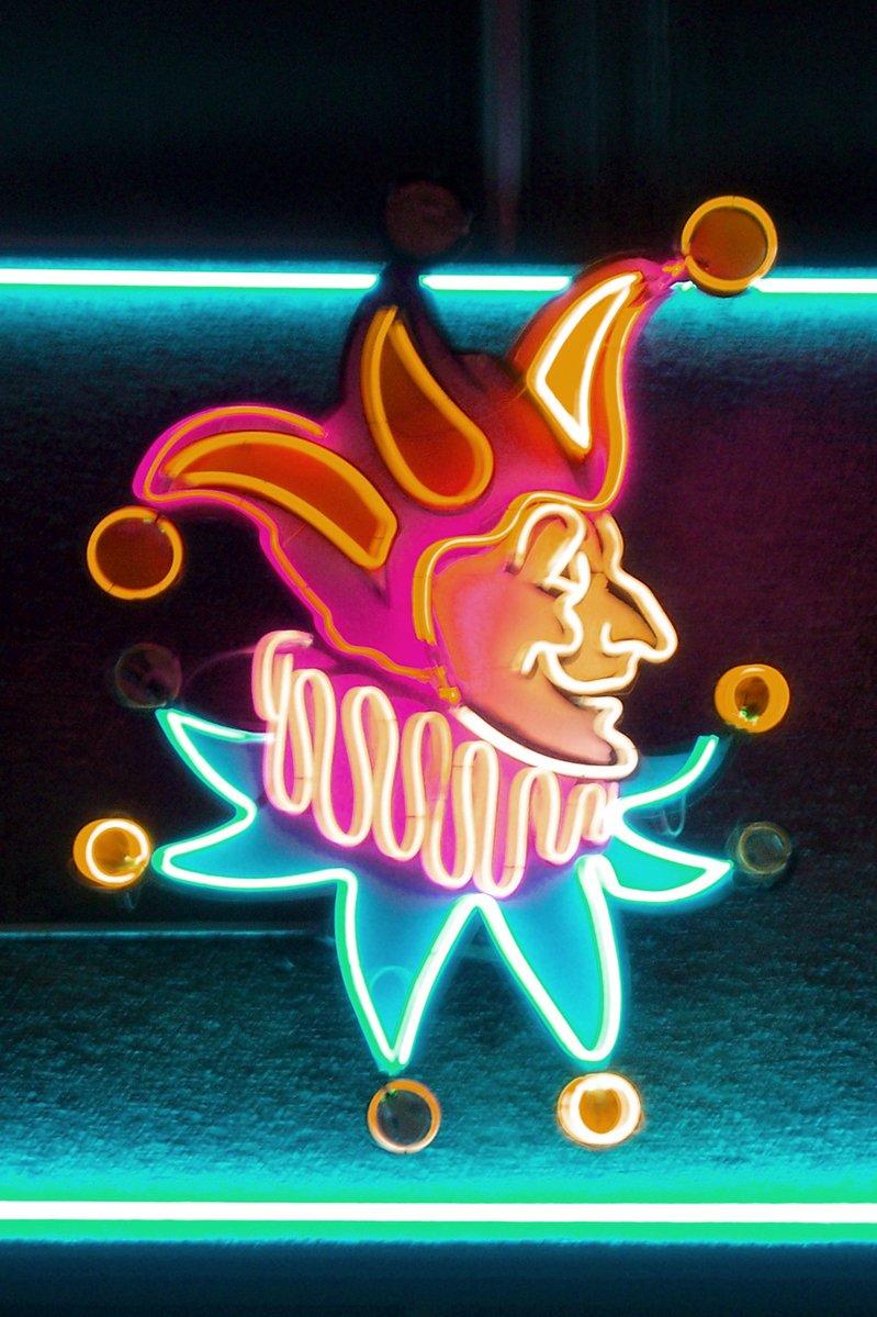 jester,Casino,neon,joker