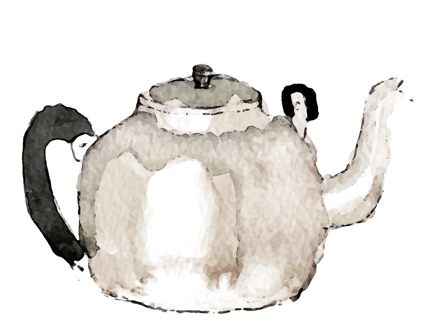 卡通手绘荷花水壶