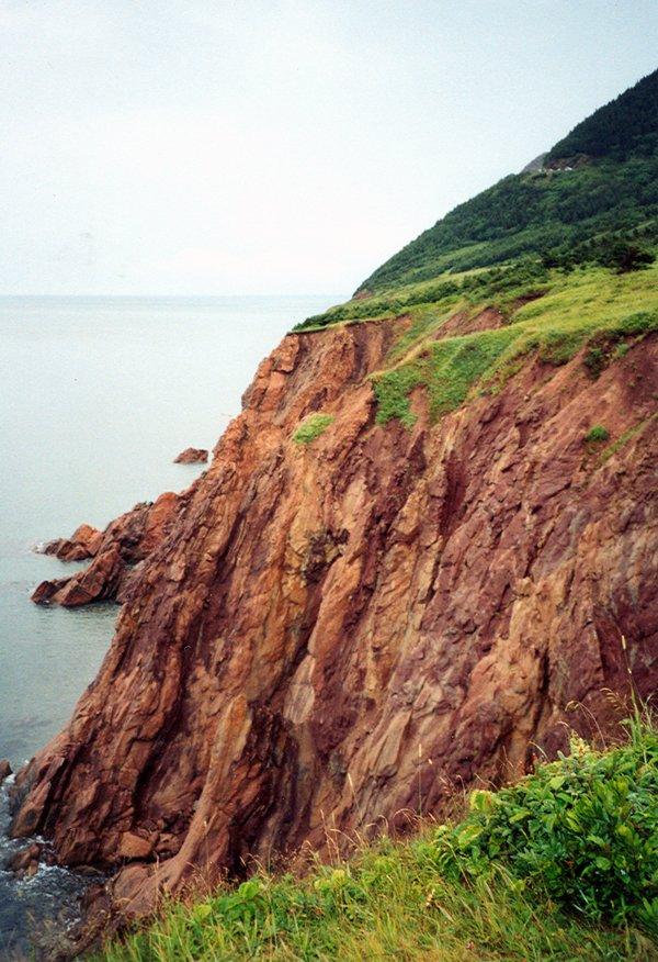 free nova scotia cliff 1 stock photo