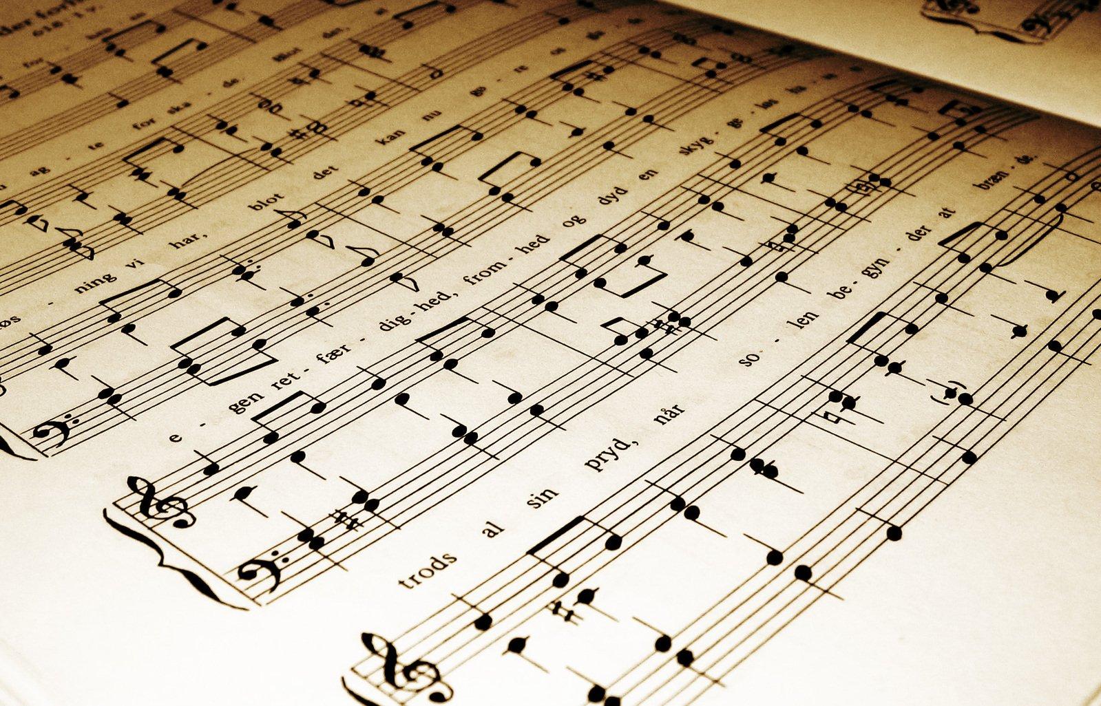 Free Hoja de música Stock Photo - FreeImages.com