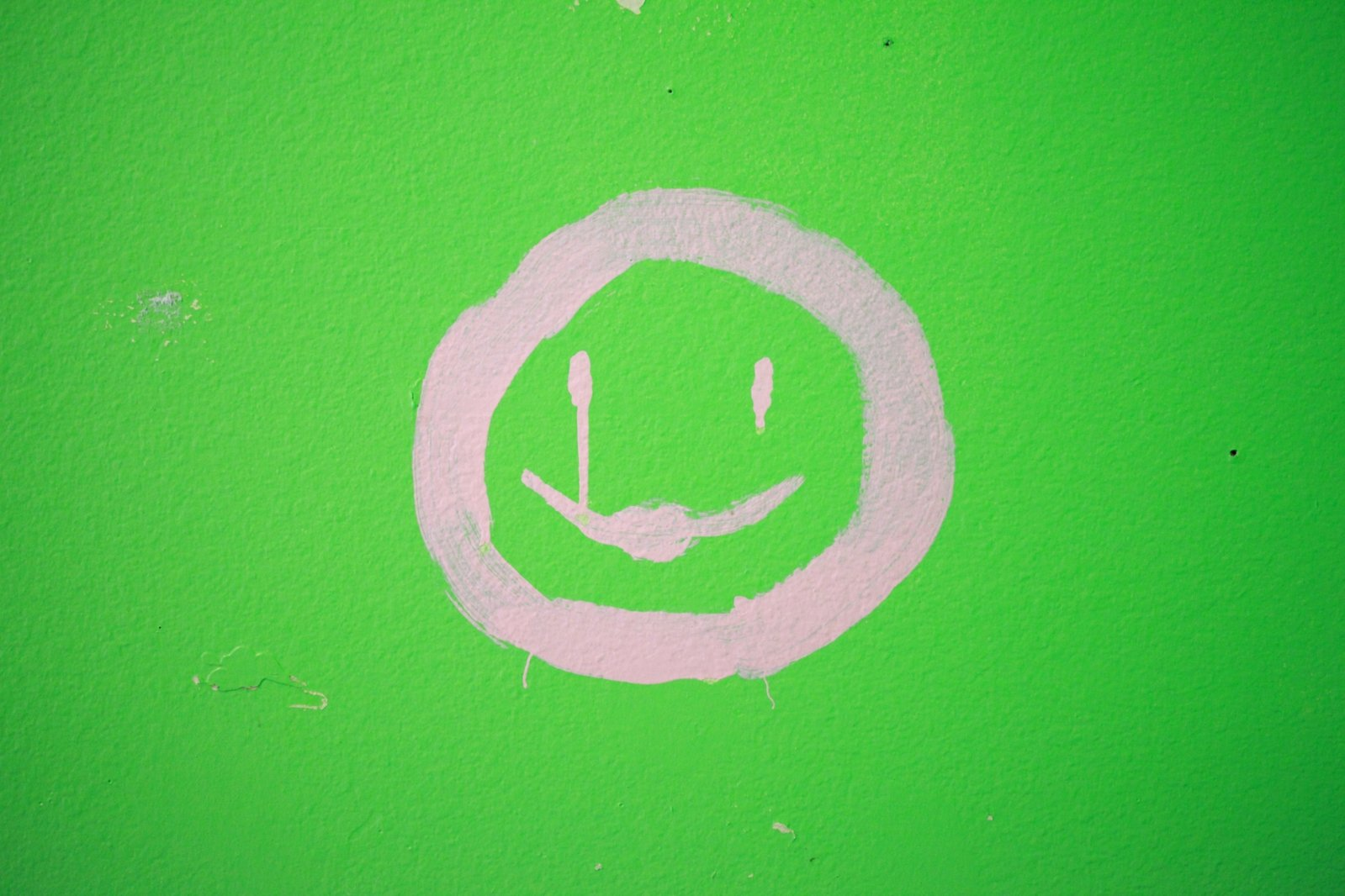 Green Smiley Face Stock Photos: Free Pink Happy Face On Green Stock Photo