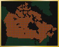 LED Canada Map
