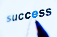 word success on screen