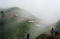Trekkin in fog