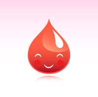 Cute Kawaii Red Blood Drop Emoticon