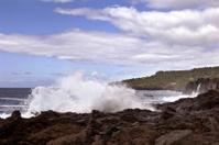 Volcanic coastline in  Azores