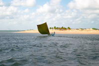 Fishing Boat in Tropical Beach (Brazil)