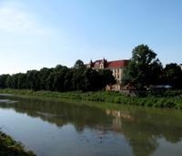 River bank in Uzhgorod (Ukraine)