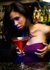 Hot girl at the bar