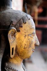Face of Bronze antique Indian Goddess