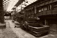 slag ladle car of old factory