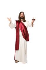 Jesus Holding Wine