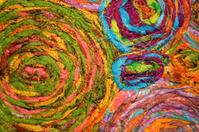 Colourful swirls of wool