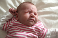 Baby Girl Sneezing