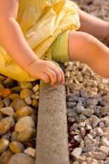Playing with gravel
