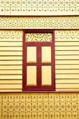 Thai style house window