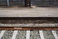 Detail of a railroad track
