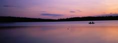 Fishing Panoramic Silhouette